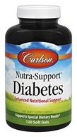 Carlson Labs - Nutra-Support Diabetes Iron-Free - 120 Softgels - $34.04