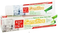 Kiss My Face - Toothpaste Certified Organic Aloe Vera Gel Sensitive Whitening Cool Orange Mint Freshness - 3.4 oz.