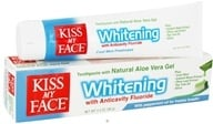 Kiss My Face - Toothpaste Certified Organic Aloe Vera Gel Anticavity Whitening with Fluoride Cool Mint Freshness - 3.4 oz. by Kiss My Face