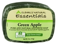 Clearly Natural - Glycerine Soap Bar Green Apple - 4 oz. (087052717490)