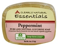 Clearly Natural - Glycerine Soap Bar Peppermint - 4 oz. by Clearly Natural