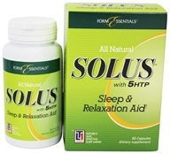 Image of Form Essentials - Solus with 5HTP Sleep & Relaxation Aid - 60 Capsules