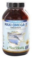 Maxi-Health Research Kosher Vitamins - Maxi-Omega-3 Concentrate Certified Kosher Fish Oil - 180 Capsules