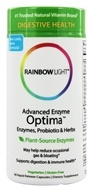 Rainbow Light - Advanced Enzyme Optima with Prebiotics & Probiotics - 90 Vegetarian Capsules, from category: Nutritional Supplements