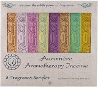 Auromere - Aromatherapy Incense 8 Fragrance Sampler - 8 Packet(s)