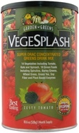 Image of Garden Greens - VegeSplash Super ORAC Concentrated Greens Drink Mix Zesty Tomato - 18.6 oz.