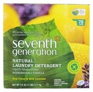 Seventh Generation - Natural Laundry Detergent Real Citrus & Wild Lavender - 112 oz. by Seventh Generation