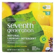 Seventh Generation - Natural Laundry Detergent Real Citrus & Wild Lavender - 112 oz., from category: Housewares & Cleaning Aids