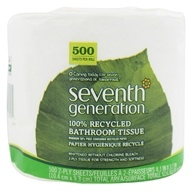 Seventh Generation - Bathroom Tissues 100% Recycled White 2 Ply 500 Sheets Unscented - 1 Roll(s) - $1.39