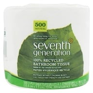 Image of Seventh Generation - Bathroom Tissues 100% Recycled White 2 Ply 500 Sheets Unscented - 1 Roll(s)