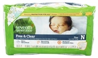 Seventh Generation - Free & Clear Baby Diapers Newborn (up to 10 lbs.) - 36 Diaper(s)