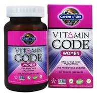 Garden of Life - Vitamin Code RAW Women's Multi Formula - 120 Vegetarian Capsules (658010113663)