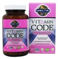 Garden of Life - Vitamin Code RAW 50 & Wiser Women's Multi Formula - 120 Vegetarian Capsules, from category: Vitamins & Minerals