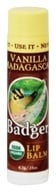 Image of Badger - Certified Organic Lip Balm Stick Vanilla Madagascar - 0.15 oz.