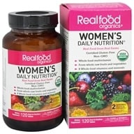 Real Food Organics Women's Daily Nutrition - 120 Tablets