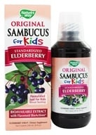Nature's Way - Sambucus For Kids Bio-Certified Elderberry, Echinacea, & Propolis Syrup Berry Flavored - 8 oz. (033674153598)