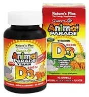 Nature's Plus - Animal Parade Vitamin D3 Black Cherry - 90 Chewable Tablets by Nature's Plus