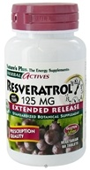 Image of Nature's Plus - Herbal Actives Extended Release Resveratrol 125 mg. - 60 Vegetarian Tablets