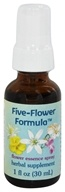 Image of Flower Essence Services - Five-Flower Formula Organic Stress Relief Spray - 1 oz.