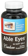 Carlson Labs - Able Eyes Healthy Vision - 60 Softgels by Carlson Labs
