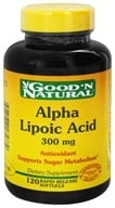 Good 'N Natural - Alpha Lipoic Acid 300 mg. - 120 Softgels, from category: Nutritional Supplements