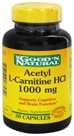 Good 'N Natural - Acetyl L-Carnitine 1000 mg. - 30 Capsules, from category: Nutritional Supplements