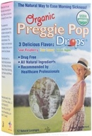 Three Lollies - Preggie Pop Drops Organic Assorted Sour Fruit - 12 Lozenges