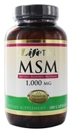 LifeTime Vitamins - 100% Pure MSM 1000 mg. - 180 Capsules (053232280641)