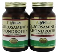 Image of LifeTime Vitamins - Glucosamine & Chondroitin Complex (60+60) Twin Pack 900 mg. - 120 Capsules
