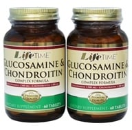 Image of LifeTime Vitamins - Glucosamine 1500 mg & Chondroitin 1200 mg Complex Formula (60+60) Twin Pack - 120 Tablets