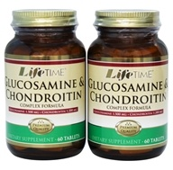 LifeTime Vitamins - Glucosamine 1500 mg & Chondroitin 1200 mg Complex Formula (60+60) Twin Pack - 120 Tablets (053232422614)