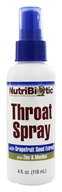 Nutribiotic - First Aid Throat Spray with Zinc + GSE - 4 oz. (728177010164)