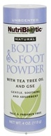 Nutribiotic - Natural Body & Foot Powder Unscented - 4 oz.