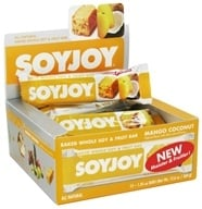 SoyJoy - All Natural Baked Whole Soy & Fruit Bar Mango Coconut - 1.05 oz. by SoyJoy