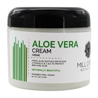 Image of Mill Creek Botanicals - Aloe Vera Cream 80% Pure Soothes Irritations - 4 oz.