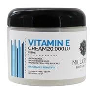 Image of Mill Creek Botanicals - Vitamin E Cream Anti-Oxidant 20000 IU - 4 oz.