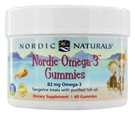 Nordic Naturals - Nordic Omega-3 Treats With Purified Fish Oil Tangerine - 60 Gummies