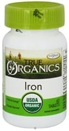 Enzymatic Therapy - True Organics Iron - 60 Tablets
