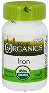 Enzymatic Therapy - True Organics Iron - 60 Tablets - $8.37