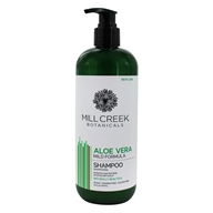 Image of Mill Creek Botanicals - Aloe Vera Shampoo Mild, Everyday Formula - 16 oz.