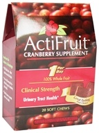 Enzymatic Therapy - ActiFruit Cranberry Supplement - 20 Soft Chews by Enzymatic Therapy
