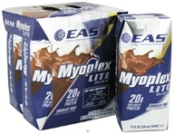 EAS - Myoplex Lite RTD 20g Protein Shake Chocolate Fudge - 4 Pack CLEARANCE PRICED