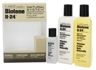 Mill Creek Botanicals - Biotene H-24 Natural System for Thicker Fuller Looking Hair - Tri-Pack (Shampoo, Conditioner, & Emulsion)