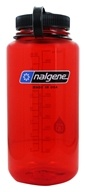 Nalgene - Everyday Tritan BPA Free Widemouth Water Bottle Lollipop Red with Black Lid - 32 oz.