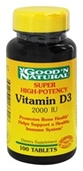 Image of Good 'N Natural - High Potency Vitamin D D3 - 100 Tablets