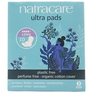 Image of Natracare - Organic Cotton Natural Feminine Ultra Pads Long with Wings - 10 Pad(s)