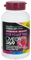 Nature's Plus - Herbal Actives Extended Release Red Yeast Rice, Omega 3-6-9 with CoQ10 - 30 Softgels