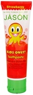Jason Natural Products - Kids Only Toothpaste Strawberry - 4.2 oz. (078522007289)
