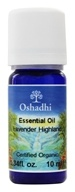 Oshadhi - Professional Aromatherapy Highland Lavender Certified Organic Essential Oil - 10 ml., from category: Aromatherapy