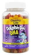 Country Life - Dolphin Pals DHA Gummies For Kids 100 mg. - 90 Sour Gummies (015794080398)